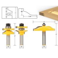 3pcs Set Bit Raised Panel Cabinet Door Router Bit Set 1 2 Inch Milling Cutter For