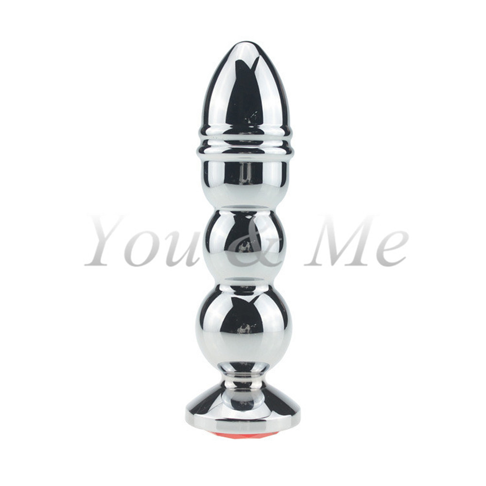 2016 New Stainless Steel Metal Anal Beads Large Size Anal Butt Plug Adult Big Anal Dildo Sex Toy for Men Women Gay Sex Products 140g stainless steel anal hooks metal butt plug with 2 balls gay sex toys adult products for men and women massage