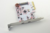 2 Ports Superspeed Type C Adapter PCI E to USB 3.1 Expansion Card for Win 7 8 10