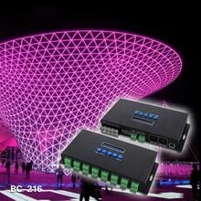 2016 Nieuwe Led-verlichting Controlers 16 Kanalen Artnet Naar SPI/DMX Pixel Licht Controller DC5V-24V 340 pixels * 16CH + twee poorten BC-216(China (Mainland))