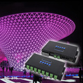 2016 Nuevas Luces LED Controladores Artnet Para SPI de 16 Canales/DC5V-24V DMX Controlador de Luz Pixel 340 píxeles * 16CH + dos puertos BC-216