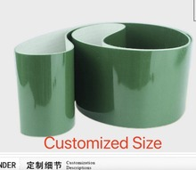 (Customized Size Please Contact) 500x100x3mm  PVC Green Transmission Conveyor Belt Industrial