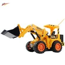 RC Bulldozer 6CH Remote Control Simulation Bulldozer 4 wheel construction Bulldozer Engineering truck electronic toys