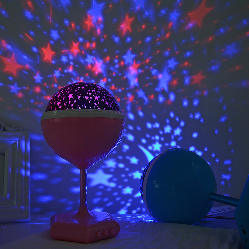 Colorful Star LED Starlight Projector Home Decoration Birthday Christmas Wedding Party Atmosphere Night Lights Kids Gift Lamp