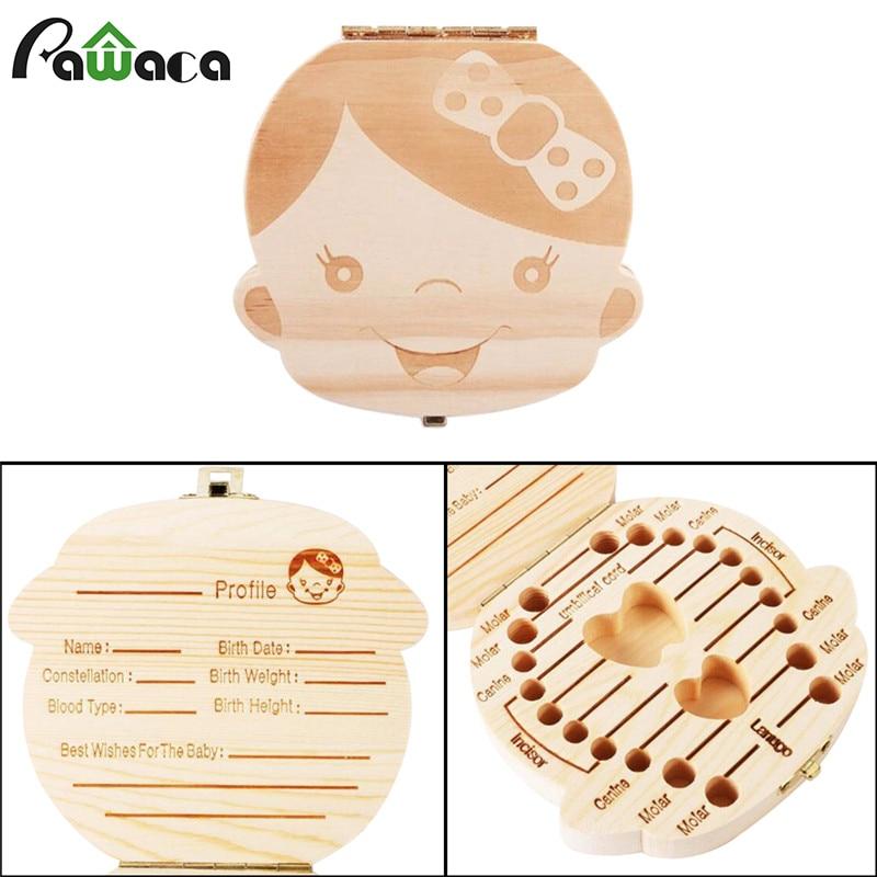 Wooden Baby Teeth Save Box Milk Teeth Organizer Personalized Cute Box For Kids