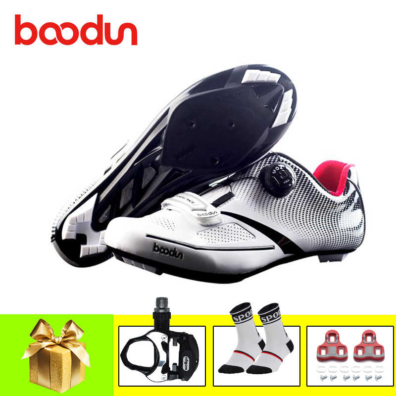 BOODUN pro cycling shoes road sapatilha ciclismo 2019 men women bicicletas pedals self-locking breathable cycling bike sneakers