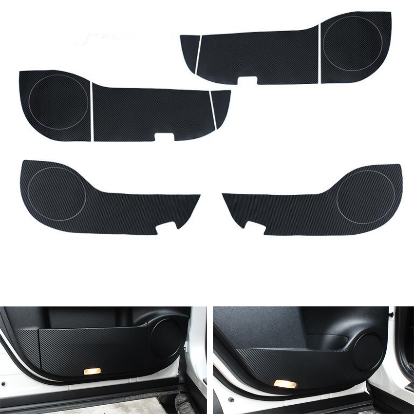 YAQUICKA Fit For Lexus RX <font><b>RX200t</b></font> 2016 2017 2018 Car Door Anti Kick Carbon Fiber Stickers Interior Accessories 4Pcs/set image