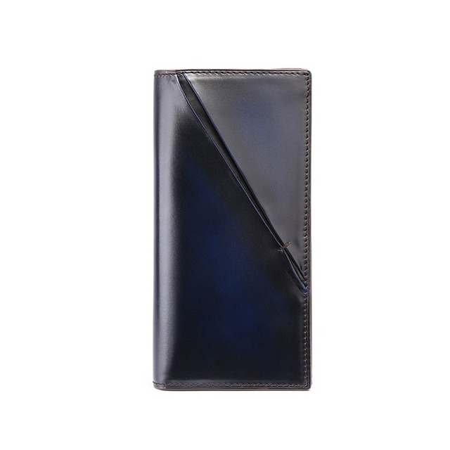 TERSE_Italian cowhide leather long wallet handmade genuine leather business purse iphone 7 bags engraving service OEM ODM