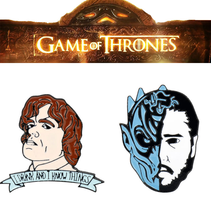 Game Of Thrones Tyrion Lannister Enamel Pin Broochs Cosplay Props Alloy Unisex Accessories Jon Snow Badge