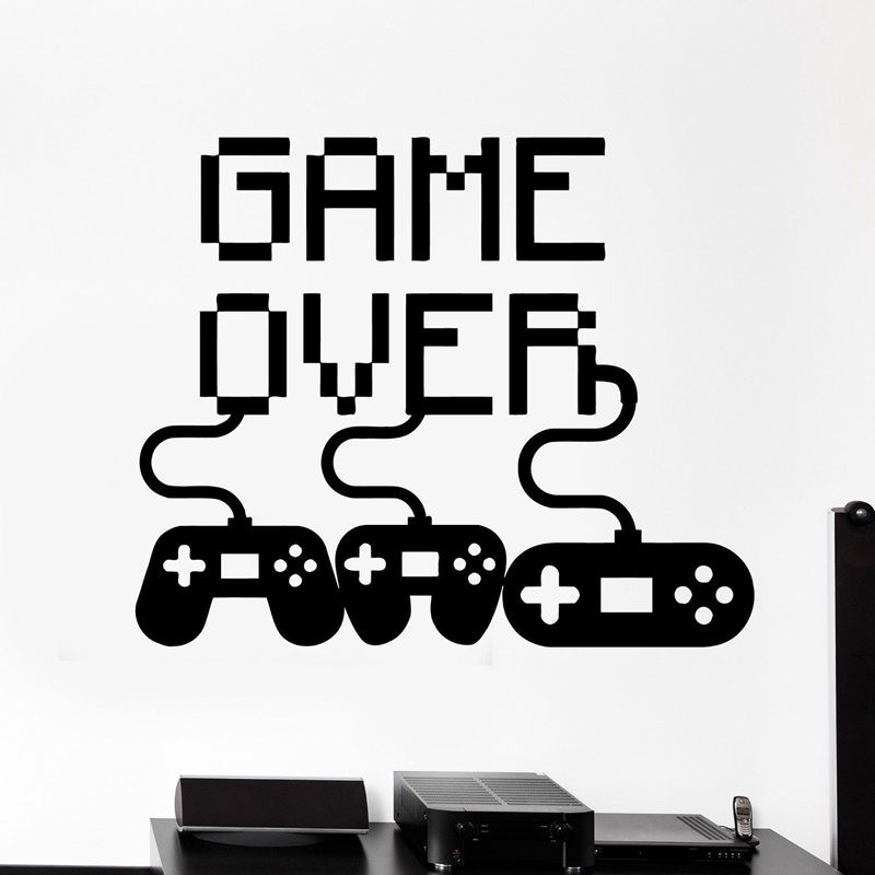 Video Game Sticker Play Decal Gaming Posters Gamer Vinyl Wall Decals