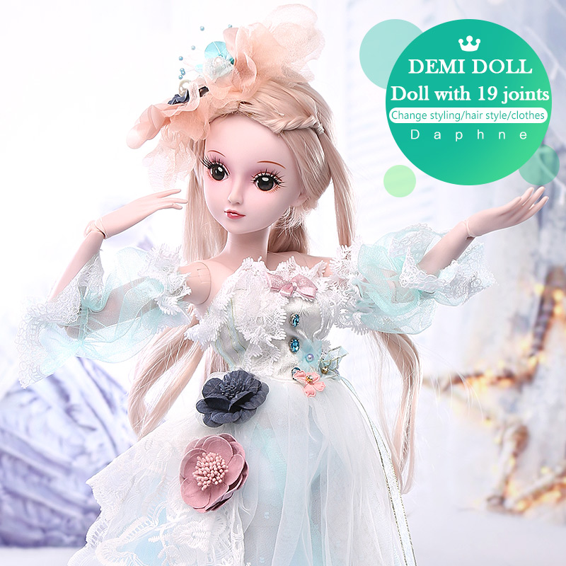 BARBIE 1/3 BJD Doll Princess Dolls 19 Joint Body Princess Evening Dress Educational Toys for Children Birthday Gifts Party Dress