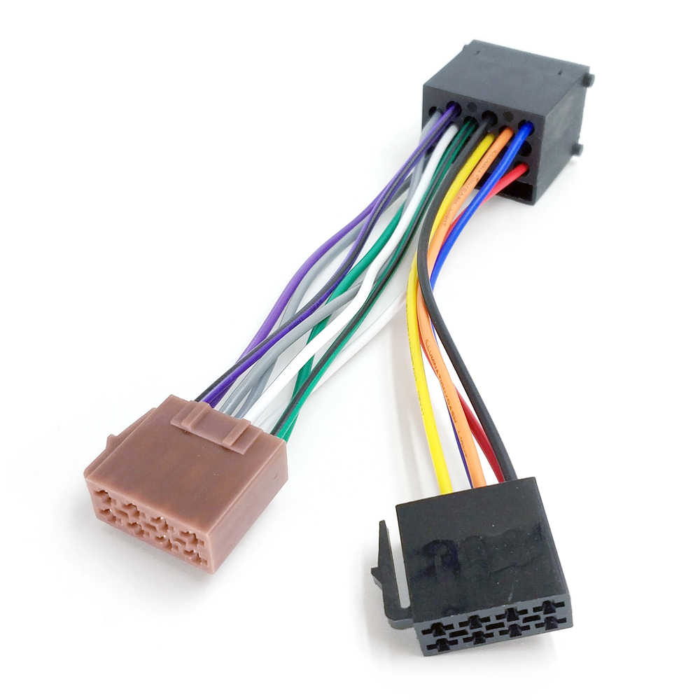 biurlink aftermarket car cd changer round 17pin plug to iso lead wiring  harness cable adapter for