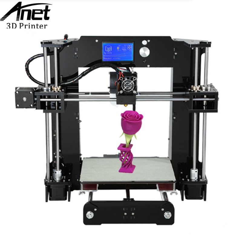 Anet High-precision A6 3D Printer Upgraded High Quality Prusa i3 Reprap A6 3D printer Easy Assembly diy Kit Large Print Size metal frame linear guide rail for xzy axix high quality precision prusa i3 plus creality 3d cr 10 400 400 3d printer diy kit
