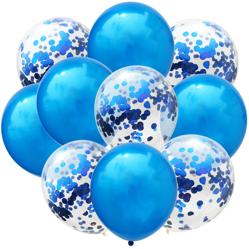 10pc 12inch Latex Colored Confetti Balloons And Birthday Party Decorations 8