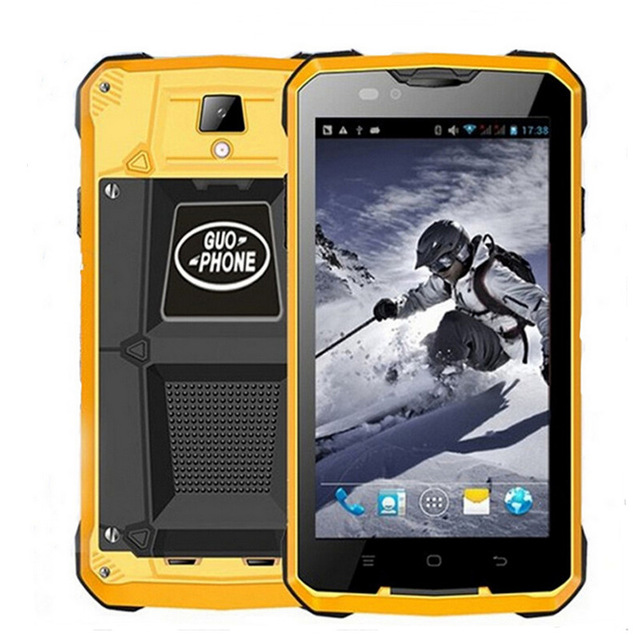 GUOPHONE V12 Waterproof Shockproof Phone 5 0inch Android 4 4 3G GPS MTK6572 Dual Core 1