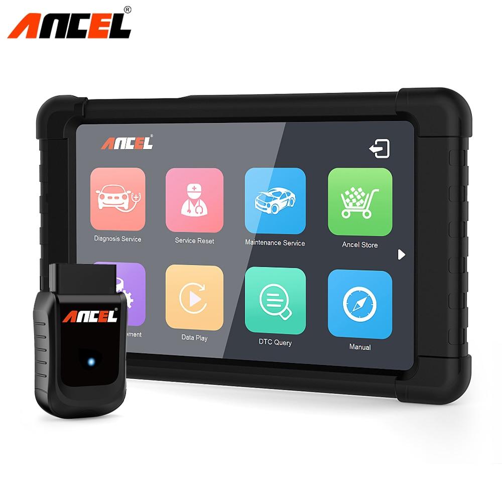Ancel Professionale OBD2 Auto Strumento Diagnostico WiFi ODB2 Automotive Scanner 8 pollici Tablet OBD Servizio Dell'olio Reset Completo del Sistema ABS SRS