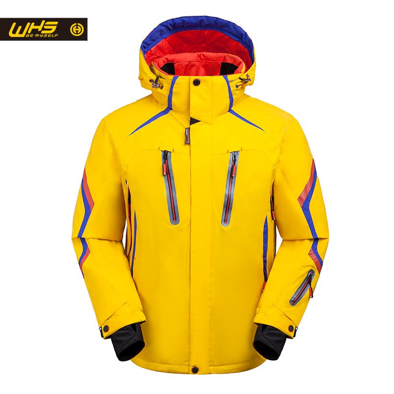WHS 2017 New Ski Jackets men windproof warm coat  male waterproof  snowboard jacket teenagers Outdoor sport  clothing winter gub 3342 multifunction waterproof bicycle bike tail bag grey black