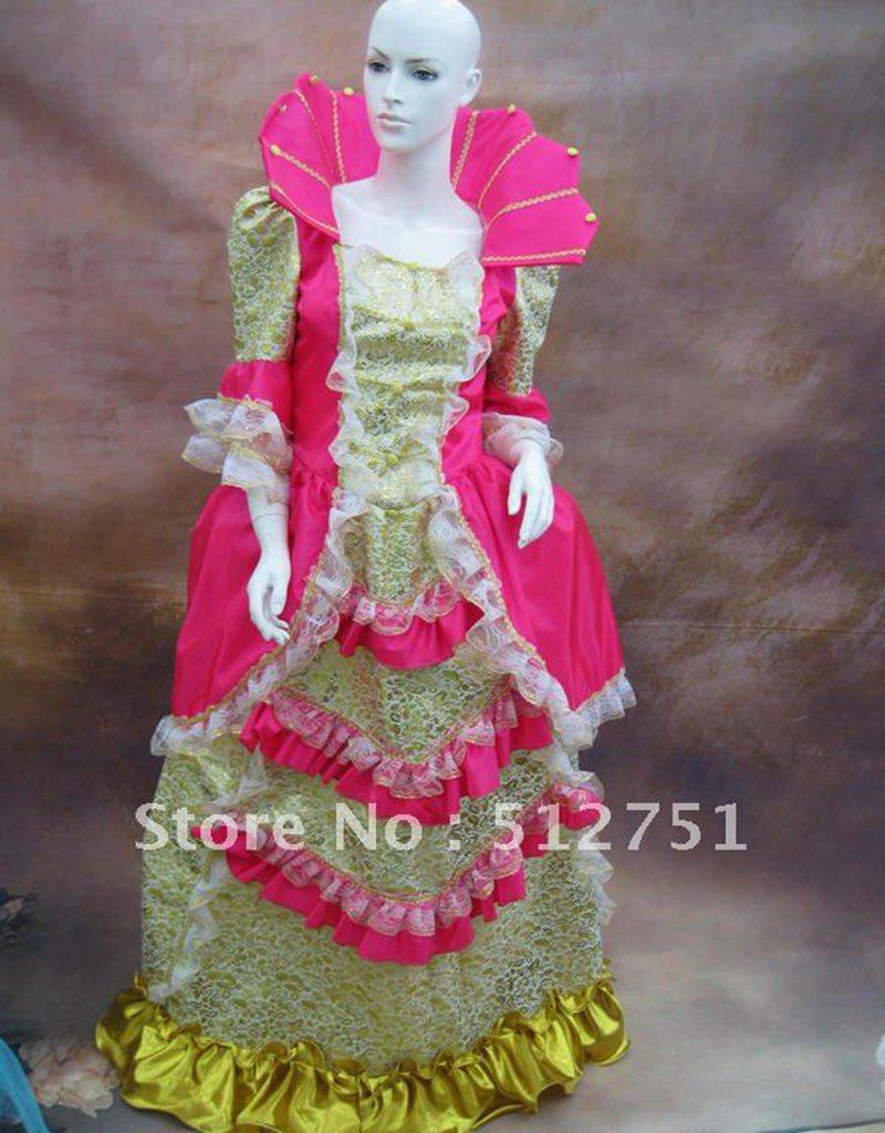 Medieval dress 17 18th century marie antonieta barroco rococó ...
