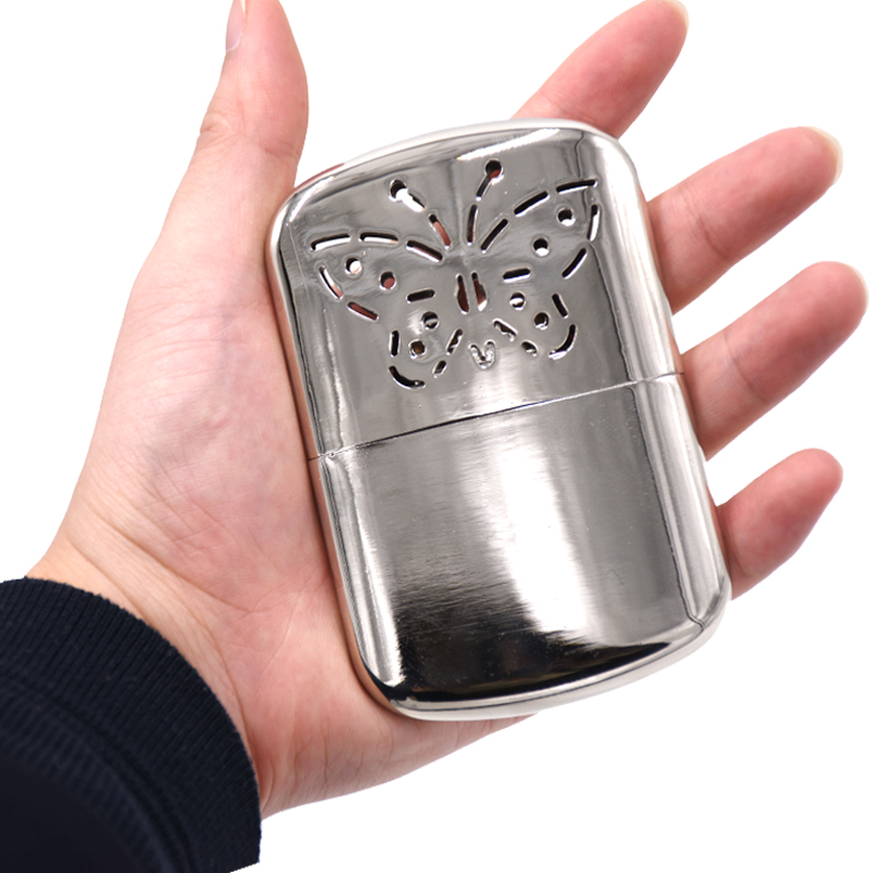 mini stainless steel pocket hand warmer camping hiking small handy warmer heater indoor outdoor. Black Bedroom Furniture Sets. Home Design Ideas