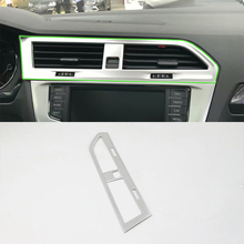 Car Accessories ABS Interior Front Middle Air Vent Outlet Cover Trim For Volkswagen Tiguan L 2016 Car Styling цены