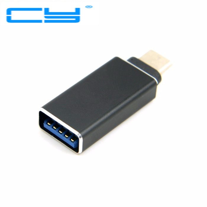 USB 3.1 USB Type C Male Connector to A Female OTG type c Data Host Adapter converter Black for Macbook & Chromebook