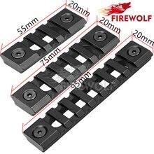 FIRE WOLF Black 3/5/7 Slots Picatinny Aluminum Rail Set and Screws for Keymod Handguard Rail Rifle Mount Accessories