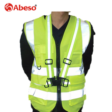 Abeso 2018 High Quality High Visibility Reflective Vest Working Clothes Motorcycle Cycling Sports Outdoor Reflective SafetyA1100