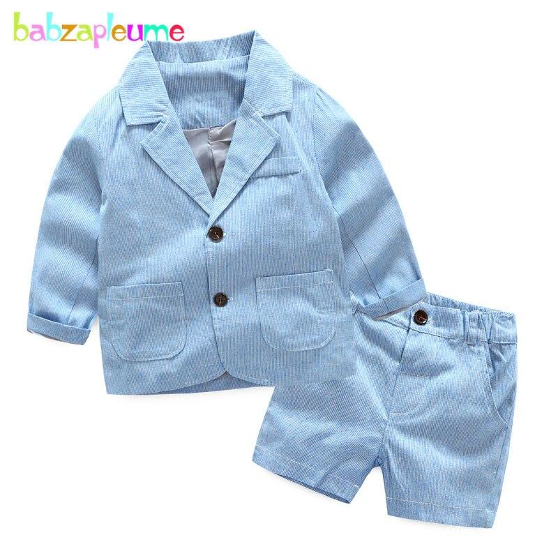 2 шт./3-7years/Демисезонный для маленьких мальчиков костюм для девочек детей Комплекты для девочек модные полосатые детские пальто + Шорты для ж...