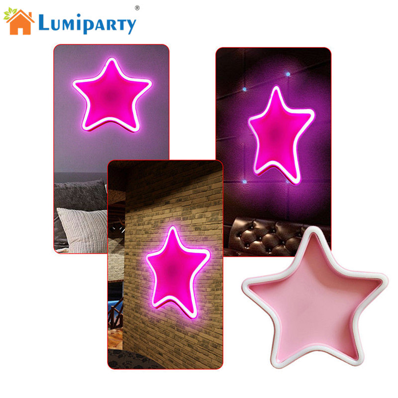 LumiParty Elegant Charming Star Shaped Plastic LED Light Fairy Lamp Wedding Party Dormitory Festival Decoration jk25