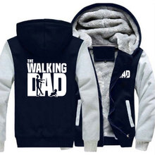 The Walking Dad Zipper Hoodies Fashion Men Sweatshirt Cardigans Thicken Hooded Coat Jacket Winter Clothes