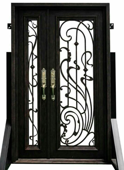 Iron Single Door Designs  Contemporary Wrought Iron Doors