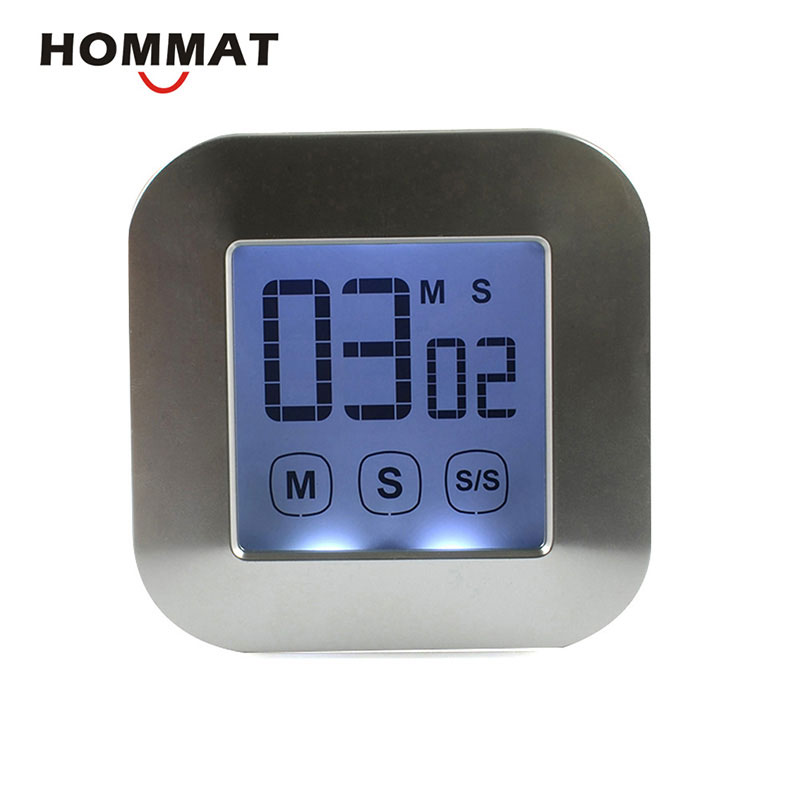 Digital Magnetic Kitchen Timer Large LCD Touch Screen Cooking Loud ...