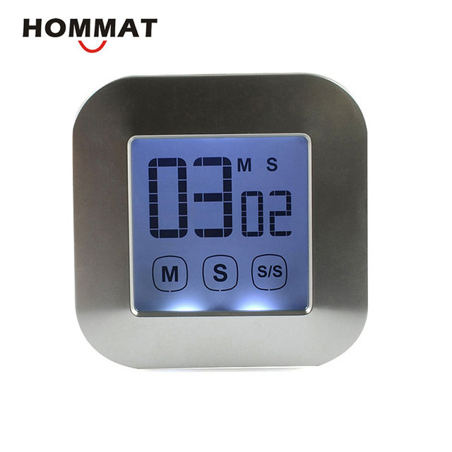 Timer Da Cucina Magnetico digitale Ampio DISPLAY LCD Touch Screen ...