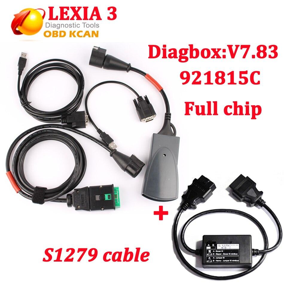 Цена за NEC Реле Lexia Lexia3 PP2000 Полный Чип С Diagbox V7.83 Lexia 3 Прошивки Серийный Номер. 921815C Диагностический Инструмент + s1279 кабель