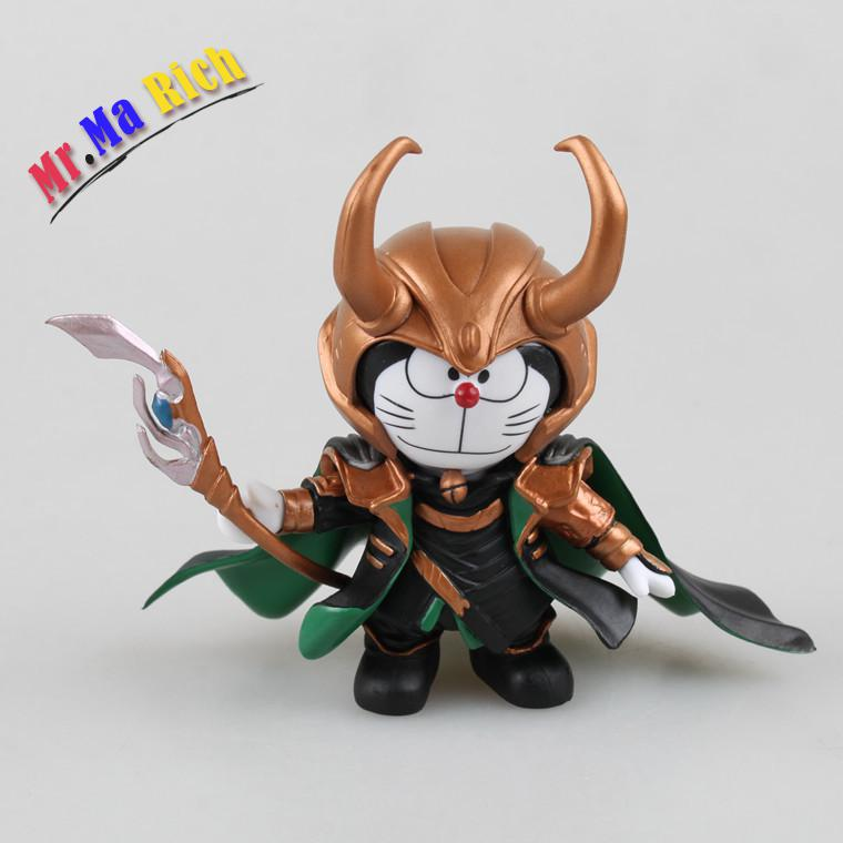Doraemon Cosplay Loki Anime Action Figure Collection Toys For Christmas Gift Free Shipping With Retail Box