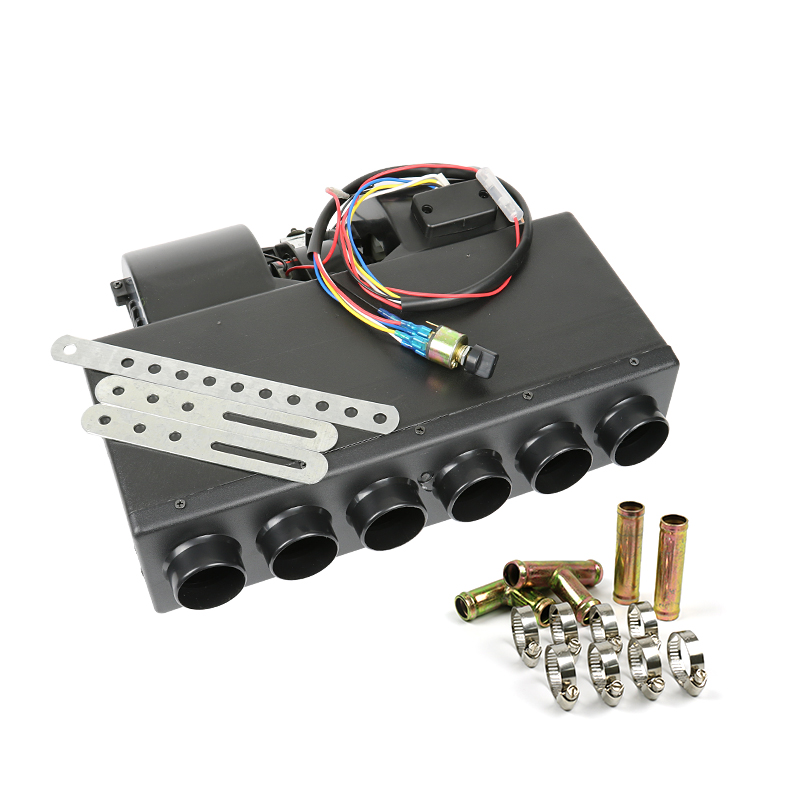 12V/24V Universal 6 Hole Auto AC Evaporator Assembly Unit Air Conditioner water Heater for Truck Minibus Y zhejiang boyard r134a 24v 12v dc air conditioner compressor kfb135z24 for truck sleeper air conditioner