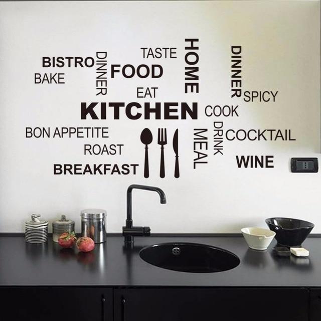 Kitchen wall quotes art food wall