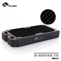 Bykski 240mm Single Row Radiator about 40mm Thickness Standard Water Cooling Radiators Compatible pc 12cm Fan BY RD240 TK