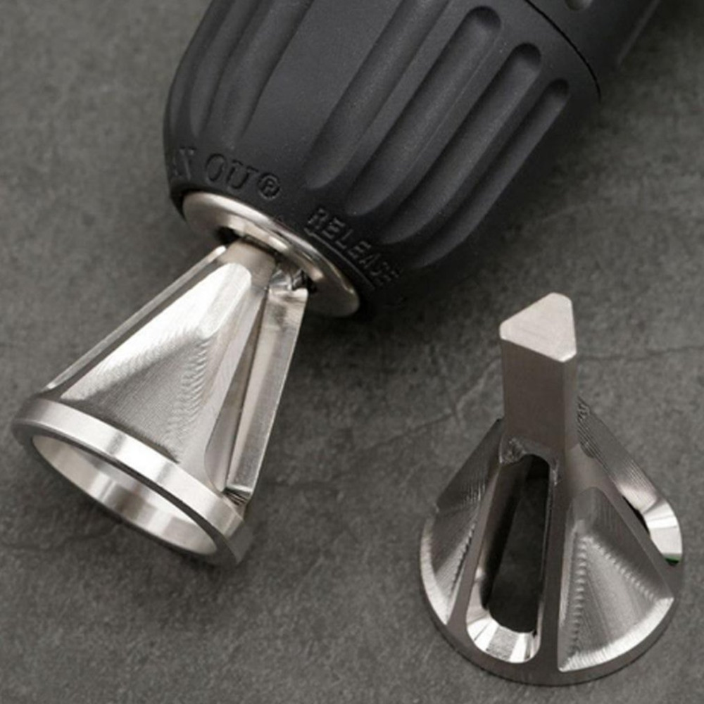 External Deburring Chamfer Tool Remove Burr Repairs Stainless Steel Silver Practical Tools Wholesale