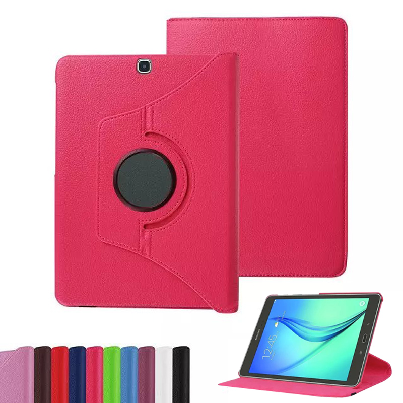 360 Degree Rotating Leather Cover For Samsung Galaxy Tab S2 9.7 inch T810 T815 Case with Stand Holster Protect Shell Tablet Case tab s2 9 7 inch tablet cover case for samsung galaxy tab s2 9 7 sm t810 t815 retro fashion wood pu leather original folding case