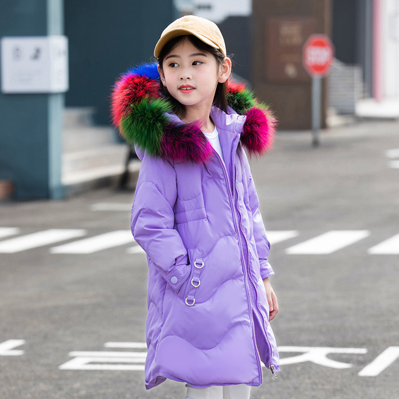 Kids Girls Winter Jacket with Fur Collar Children Parka Clothes 2018 Baby Warm Hooded Cotton Coats Big Size 5 6 8 10 12 14 Years new 2017 men winter black jacket parka warm coat with hood mens cotton padded jackets coats jaqueta masculina plus size nswt015