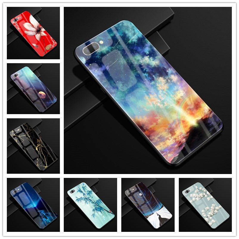 For <font><b>Oppo</b></font> <font><b>A3S</b></font> <font><b>Case</b></font> OPPOA3S Glass Hard <font><b>Phone</b></font> <font><b>Case</b></font> For <font><b>Oppo</b></font> <font><b>A3S</b></font> AX5 A 3S / <font><b>Oppo</b></font> A5 <font><b>Case</b></font> AX5S Cover OPPOA5 Tempered Cool 6.2 image
