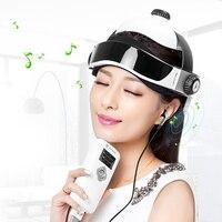 100 240V 50/60Hz Electric Head Massager Infrared Pressure Relax Acupuncture Music Massage Helmet ABS+ Rubber + Sponge