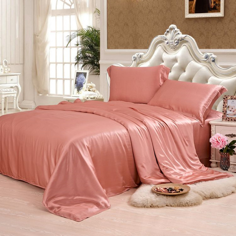 Silk Duvet Cover 1pc 19MM Seamless Silk Cover 100% Mulberry Silk Many Size Customizable size Solid Color ls0295-005 ...