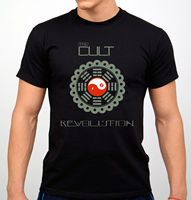 New THE CULT Revolution Rock Band Logo Men S White Black T Shirt Size S To