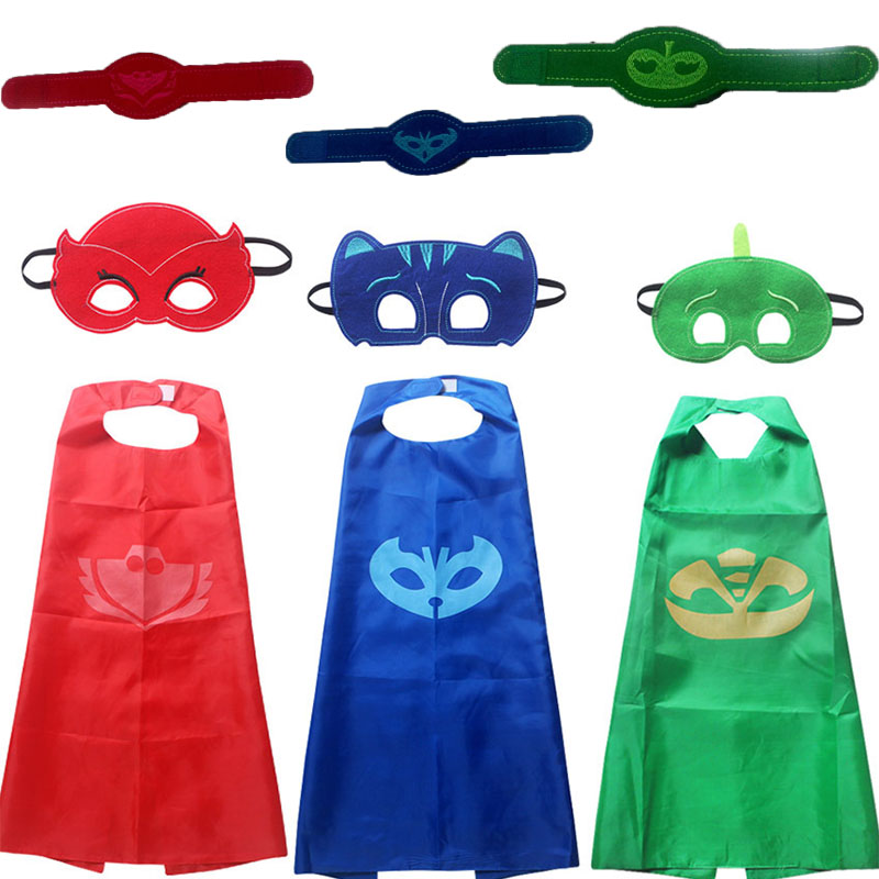halloween Costume for kids gift Catboy Owlette Masks Cape infant Clothing Set Boys Party Cosplay Disfraces Carnival present