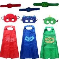 Halloween Gift Toy Superhero Catboy Owlette Gekko Masks Cape Set Boy Cosplay Kids Dress Up Christmas