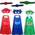 Traje de halloween para crianças presente Catboy Owlette Máscaras Cape infantil Set Roupas Meninos Partido Cosplay Disfraces Carnaval presente