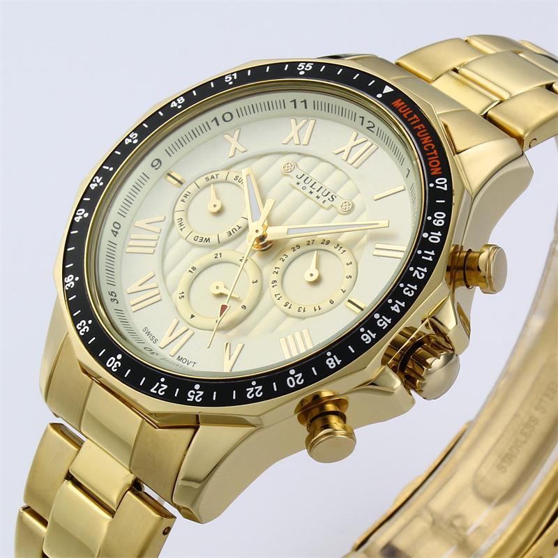 New Arrivals Luxury Brand Julius Men 39 S Quartz Watch Black