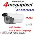 2015 Mais Novo V5.3.3 Multi Language H.265 IP Câmera 4.0 megapixel Câmera IP POE CCTV Camera IR DS-2CD2T45-I8